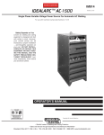 Lincoln Electric IDEALARC AC-1500 User's Manual