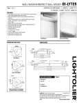Lightolier Wall Washer/Indirect Wall Mount BI-LYTER User's Manual