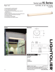 Lightolier Vanity Light VL Series User's Manual