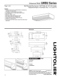 Lightolier Universal Wall LWBU Series User's Manual