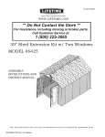 Lifetime Outdoor Storage 6425 User's Manual
