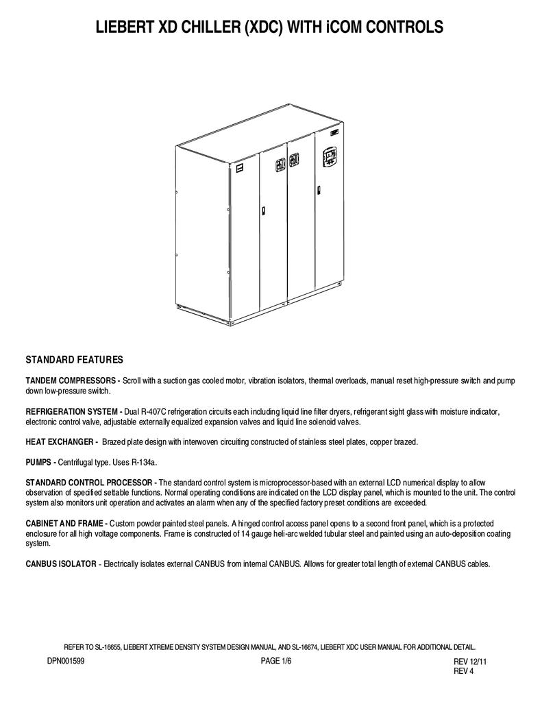 Liebert DPN001599 User's Manual