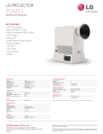 LG PG65U Specification Sheet