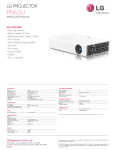 LG PB63U Specification Sheet