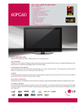 LG 60PG60F-UA Specification Sheet