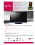 LG 47 90-UA Specification Sheet