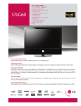LG 37 60-UG Specification Sheet