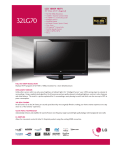 LG 32 70-UA Specification Sheet