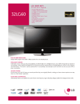 LG 32 60-UA Specification Sheet