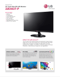 LG 22EA63T-P Specification Sheet