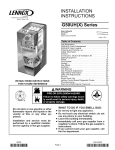 Lennox International Inc. G50UH-24A-045 User's Manual
