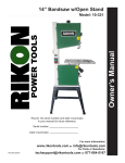Kuhn Rikon Corp. Cordless Saw 10-321 User's Manual