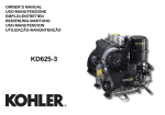 Kohler KD625-3 User's Manual