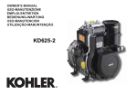Kohler KD625-2 User's Manual