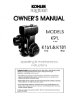 Kohler K161 User's Manual