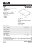 Kohler K-1418-H2 User's Manual