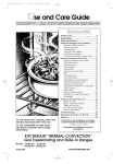 KitchenAid KGRT507 User's Manual