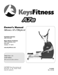 Keys Fitness A7e User's Manual