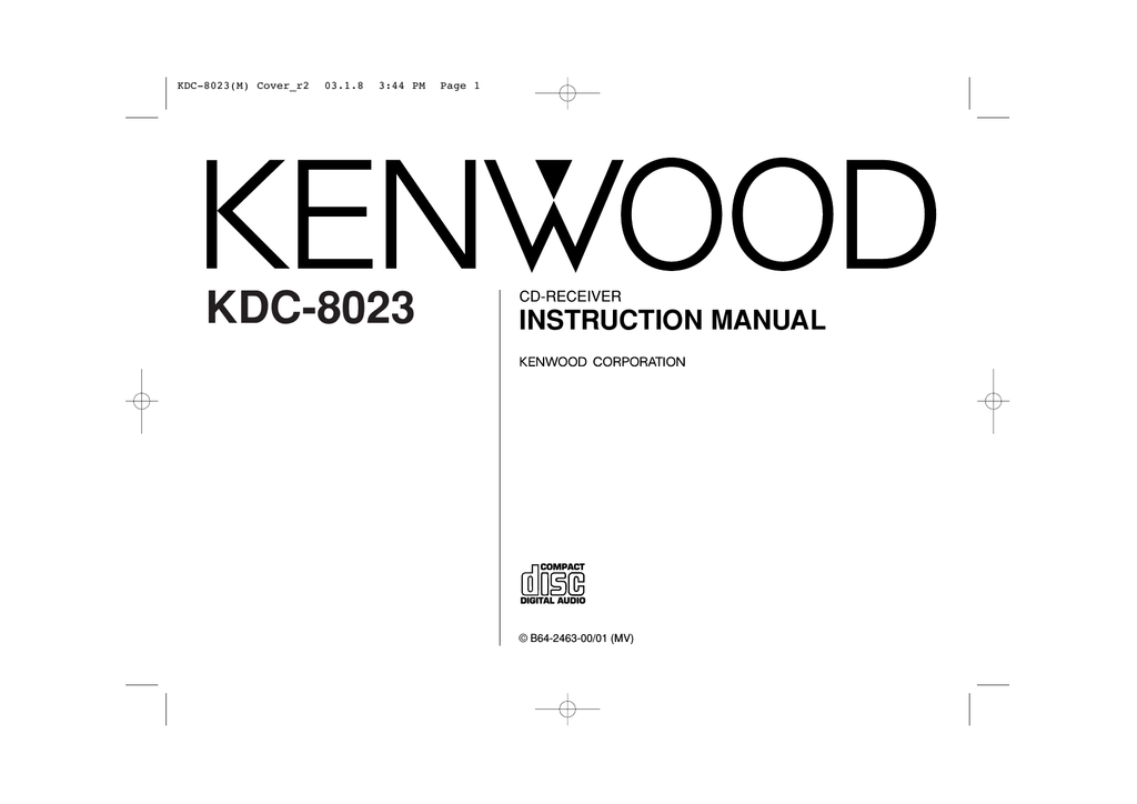 kenwood kdc x7529 cd receiver service manual