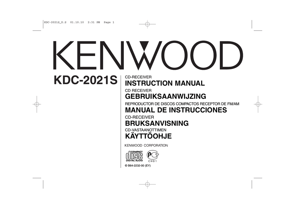 kenwood kdc 2021s user s manual rh manualzilla com Kenwood Car Audio Manual Kenwood Receiver Manual
