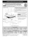 Kenmore Elite 30'' Electric Cooktop - Black Installation Guide