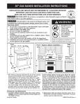 Kenmore 5.8 cu. ft. Double-Oven Gas Range - Black Installation Guide