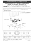 Kenmore 30'' Electric Cooktop 4120 Installation Guide