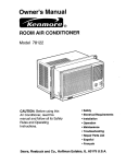 Kenmore 78122 User's Manual