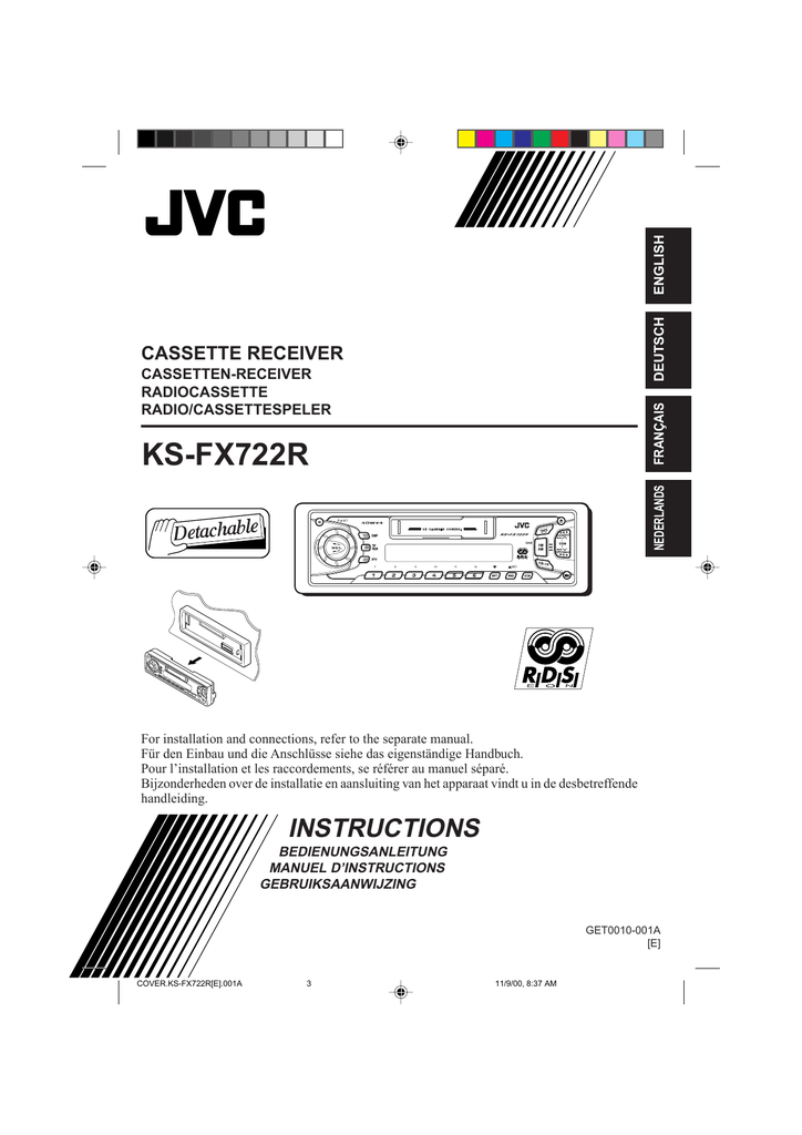 JVC KS-FX722R User\'s Manual