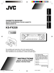 JVC KS-FX220 User's Manual