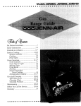 Jenn-Air JGR8855 User's Manual