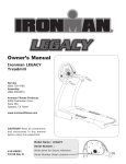 Ironman Fitness LEGACY User's Manual