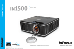 InFocus IN1500 P1501 User's Manual