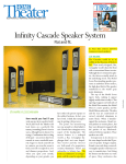 Infinity Cascade Speaker System User's Manual