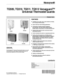 Honeywell Thermostat TG510 User's Manual