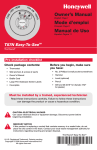 Honeywell Thermostat T87N User's Manual