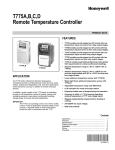 Honeywell Thermostat T775A User's Manual