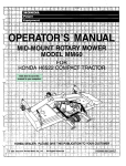 Honda MM60 User's Manual