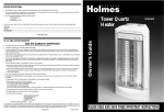 Holmes HQH305 User's Manual