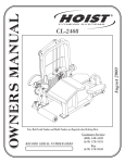Hoist Fitness CL-2408 User's Manual