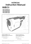 Hitachi VMD875LA User's Manual