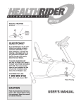 HealthRider RC150 HREX04980 User's Manual