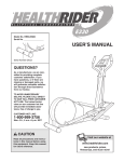 HealthRider E330 HREL05982 User's Manual
