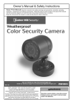 Harbor Freight Tools Weatherproof Color Security Camera with Night Vision Product manual