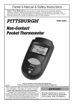 Harbor Freight Tools Non_Contact Pocket Thermometer Product manual