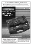 Harbor Freight Tools Heavy Duty Variable Speed Rotary Tool Kit 31 Pc Product manual