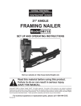 Harbor Freight Tools 98733 User's Manual