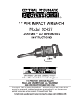 Harbor Freight Tools 92427 User's Manual