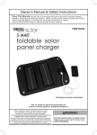 Harbor Freight Tools 5 Watt Foldable Solar Panel Charger Product manual