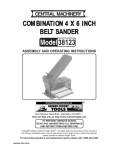 Harbor Freight Tools 38123 User's Manual